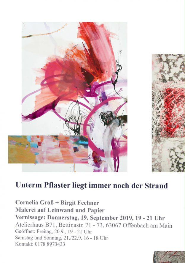 Einladung zur Ausstellung von Cornelia Groß und Birgit Fechner